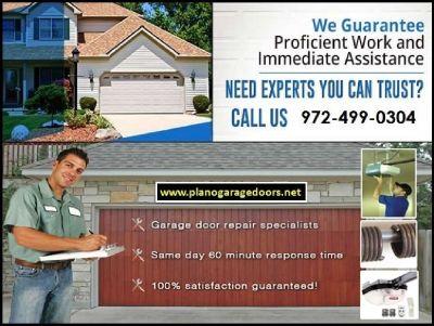 Instant Response on Garage Door Repair Services Plano TX