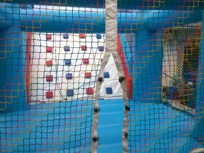 LARGE OBSTACLE COURSE FUN JUMP WITH BLOWER