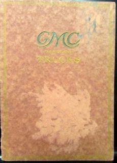 Find Circa 1913 GMC Gas Truck Models VC SC H & K KD HU KU Orig Sales Brochure Catalog motorcycle in Holts Summit, Missouri, United States, for US $85.00