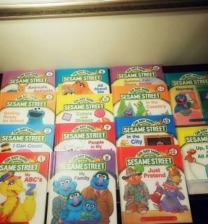 1989 Vintage On My Way With Sesame Street Books Hardcover Set