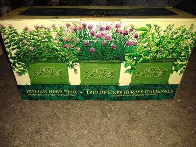 Pick up now!$20 obo new in box grow your own Italian herbs window garden