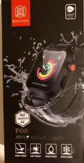Shellbox Waterproof Case For Apple Watch 42mm, Fully Sealed W Bands