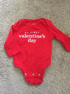 Carters My First Valentine s long sleeved onesie shirt.