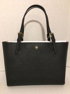 NEW Authentic Tory Burch Emerson Small Buckle Tote Shoulder Bag