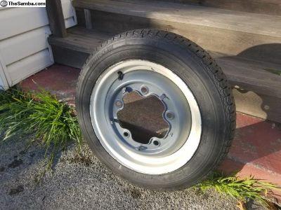 Michelin 135 SR 15 tire with wide five rim