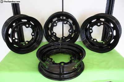 4 Porsche style 356 Wheels/ Rims, Powder Coated