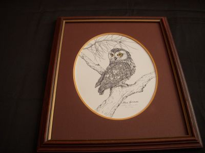 """Limited edition signed """"owl"""" print"""