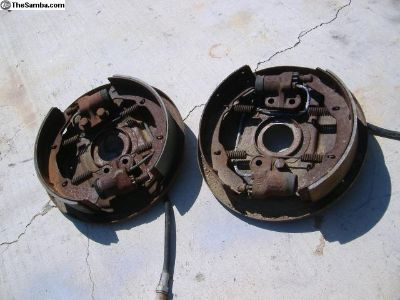 VW Bus front brake backing plates 64 - 70 yr