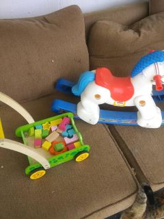 Baby toys ..rocking horse and walker
