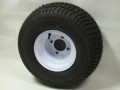 "Sell 165/65-8 LRB 4 PR Bias Trailer Tire on 8"" 4 Lug White Trailer Wheel 16.5x6.50-8 motorcycle in Edon, Ohio, US, for US $57.00"
