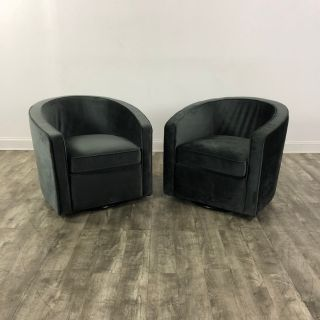 Pair of Interior Define Alice Swivel Club Chairs