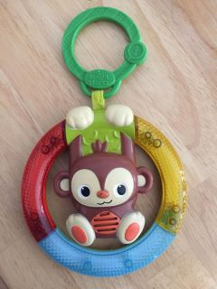Car seat toy lights up and has monkey sounds very cute