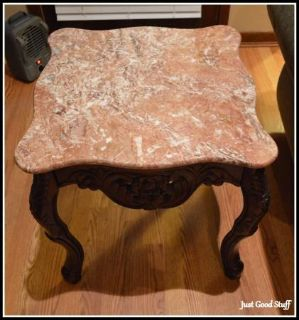 A PAIR OF ROSEWOOD MARBLE END TABLES on SALE NOW!