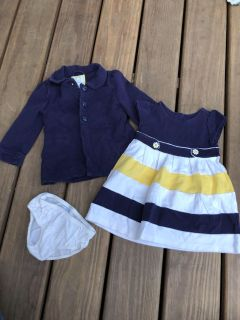 Gymboree 18-24 months dress, cardigan and diaper cover