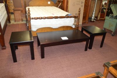 New Espresso Coffee Table & 2 End Tables