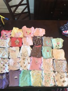 Lot of 3-6 Month Short Sleeved Onesies/Tops