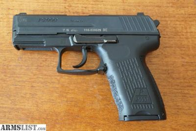 For Sale: H&K P-2000 9mm.