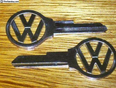 61-66 Bug SU VW emblem key blank Cut to Your Code