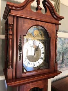 ** EMPEROR GRANDFATHER CLOCK. WORKS GREAT !!! ** Very Nice ...