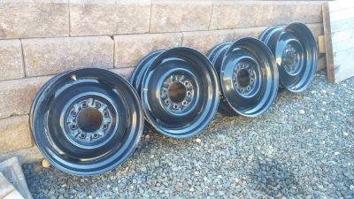 19.5 x6 rims single rear wheels