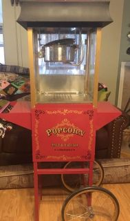 Nostalgia Electric popcorn maker with a compartment to put everything inside. Quick pick up. County line and 725.