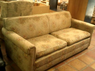 Sofa with full size sleeper, Simmons