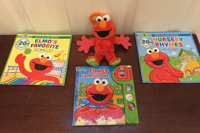 Elmo and his books-price includes all