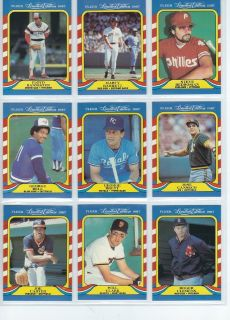 1987 Fleer Limited Edition Baseball (MLB) Superstars (R. Clemens, J. Canseco & more)