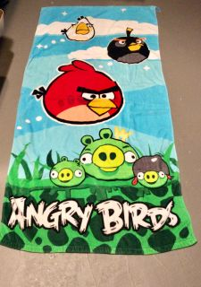 Angry Birds beach towel, 55x28, very good condition, porch pick up.