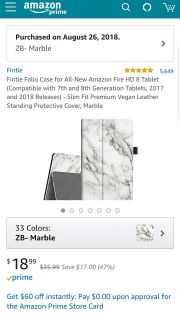 New in package white marble Kindle case