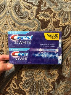 Crest 3D White 3.5 oz two pack toothpaste retail $4.99