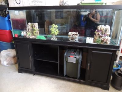 150 Gallon Aquarium tank with stand and all accessories.