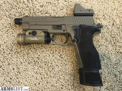For Sale: Sig Sauer P227 TacOps FDE with eotech mini red dot & tlr-1 light
