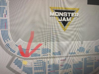 4 tickets and pit party passes Monster Jam Biloxi
