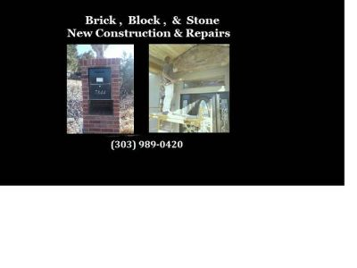 Brick, Block and Stone.. Bricklayer New Construction and Repairs