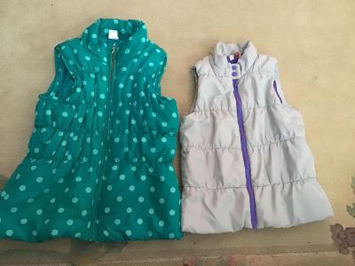 Two vests. Size 10/12