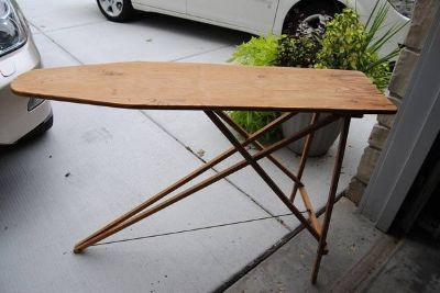 Vintage Old Antique Wooden Iron Ironing Board in great shape