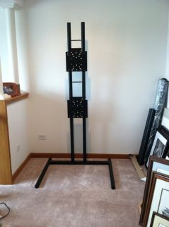 TV Stand-Black Powder Coated Steel