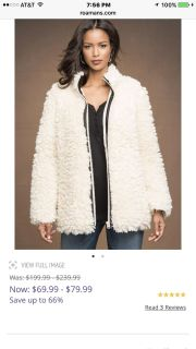 Curly shearling coat faux NEW