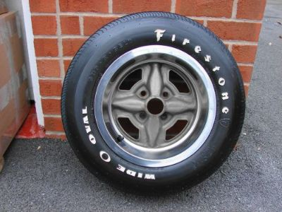 Purchase 71 72 73 74 75 CHEVROLET VEGA GT RALLY WHEEL & A70-13 FIRESTONE WIDE OVAL TIRE motorcycle in East Earl, Pennsylvania, United States, for US $250.00