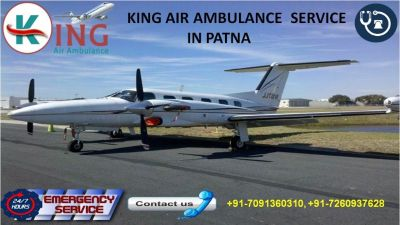 Keenly Priced King Air Ambulance Service in Patna is Now Available