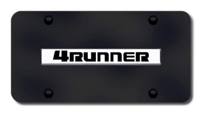 Buy Toyota 4Runner Name Chrome on Black License Plate Made in USA Genuine motorcycle in San Tan Valley, Arizona, US, for US $33.38