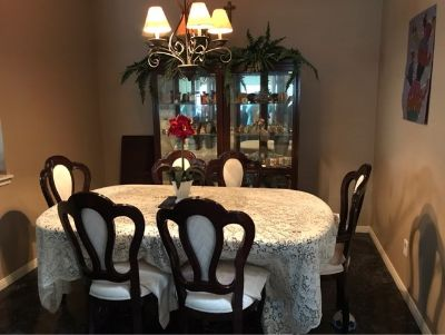 Mahogany colored Dining room furniture