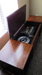 Vintage Mid-Century General Electric Stereo Console FM-AM Radio & Record Player.