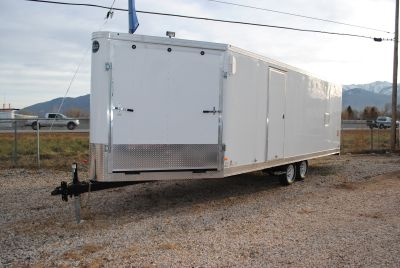 28' Snowmobile/Atv/UTV Trailer www.youngtrailers.com