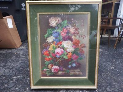 BIG CATALDA FINE ARTS FRAME FLORAL PICTURE