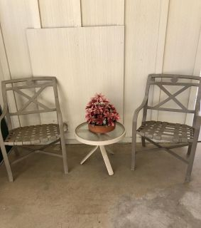 Patio set with two chairs