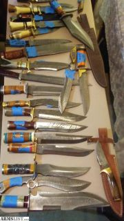 For Sale: Custom knives daggers bowie skinner fighter etc