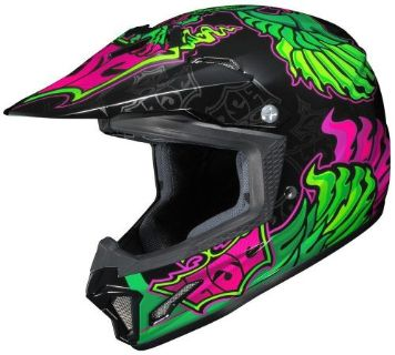 Find HJC CL-XY 2 Fly Eye Youth MX/Offroad Helmet Green/Pink/Black motorcycle in Holland, Michigan, United States, for US $99.99