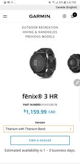 save $500 on garmin fenix 3hr titanium multi sport training gps watch
